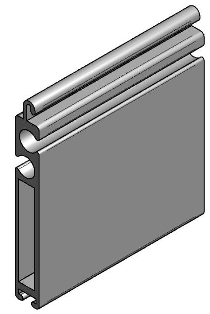 Aluminium Terminal profile VL-55603