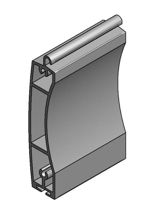 Aluminium Terminal profile VL-55606